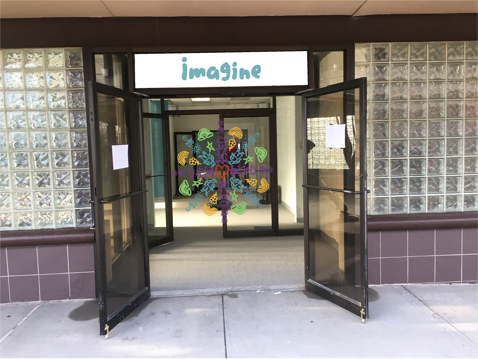 Entrance to Imagine Mountainside location