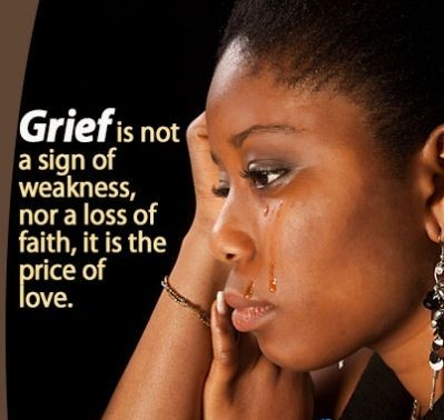 Photo of a Black woman crying