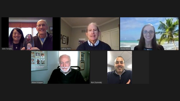 Photo of the Imagine Board of Directors on a Zoom call